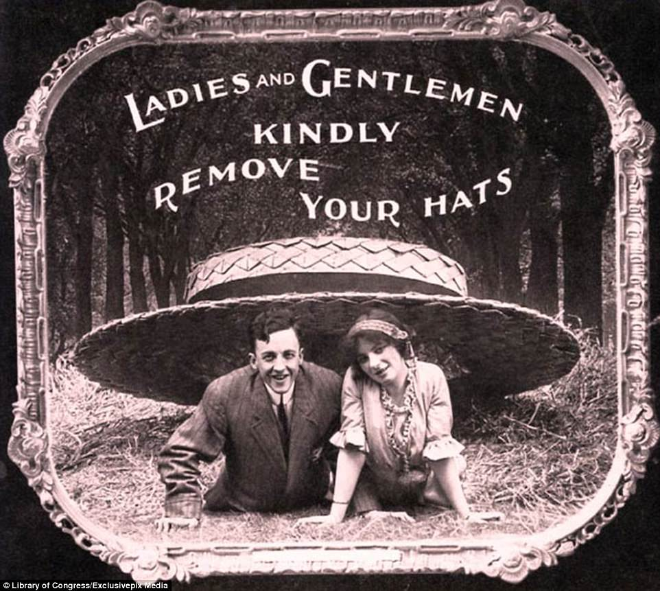 Both Men And Women Were Reminded To Remove Their Hats So People Sat Behind Them Would Be Able To Watch The Film With A Clear Sight