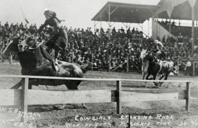 Cowgirls' Standing Race – Won By Vera McGinnis