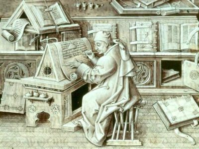 15th Century Portrait Of A Scribe