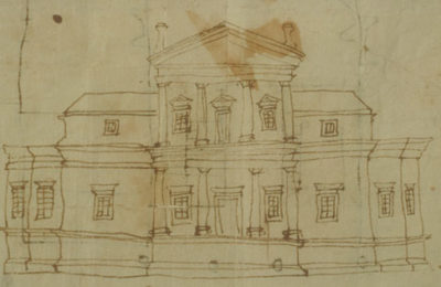 Elevation Of The First Monticello,1769 1770. Thomas Jefferson.