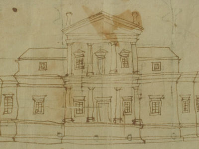Elevation Of The First Monticello,1769-1770. Thomas Jefferson.