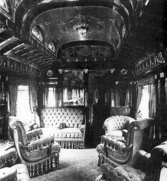 Private Pullman Palace Car, ca. mid-19th century.