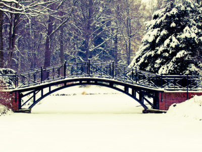 Everyone Talks About It - Snowy Bridge - The J Peterman Company