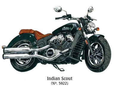 Indian Scout Motorcycle - The J Peterman Company